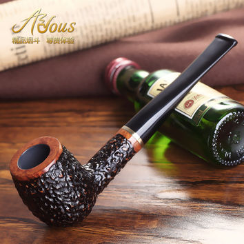 100% Handmade Briar tobacco pipe smoking pipe Smoking Accessories tools gifts for men with box Cigarette holder