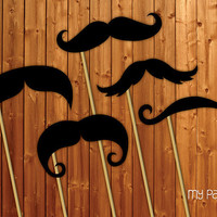 Photo Booth Props On a Stick - Moustaches