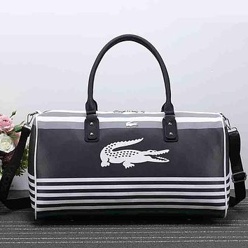 Lacoste Women Travel Bag Leather Tote Handbag Shoulder Bag Crossbody