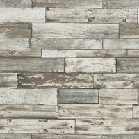 Sample Wood Wallpaper in Grey and Brown design by BD Wall