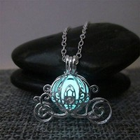 Cinderella Pumpkin Carriage Glow in the Dark necklace