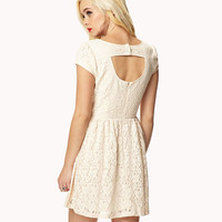 Cutout Back Lace Dress