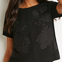 Zip-Back Embroidered Top
