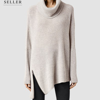 Womens Able Roll Neck Sweater (MARBLE GREY MARL) | ALLSAINTS.com