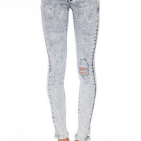 Acid Washed Skinny Jeans $47 (on sale from $68)