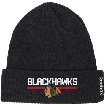 Chicago Blackhawks Reebok Center Ice Cuffed Knit Hat