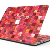 Red Watercolor Patchwork - MacBook Pro with Retina Display Full-Coverage Skin Kit