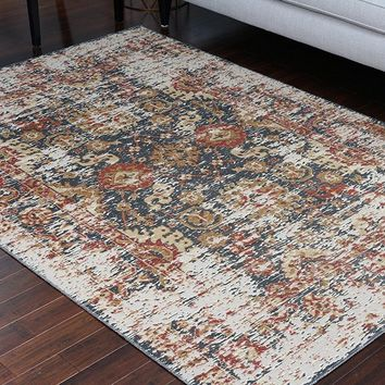 8706 Gray Rustic Oriental Area Rugs