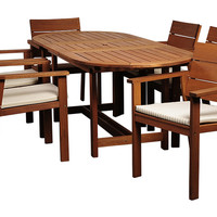 Nelson 7-Pc Oval Patio Dining Set, Outdoor Dining Sets