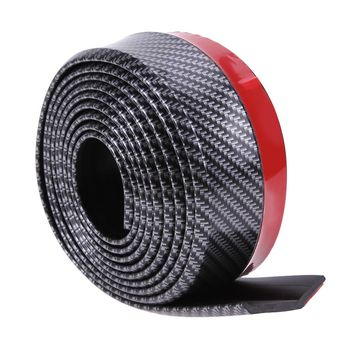 Newest Black Soft Carbon Fiber Car Rubber Bumper Strip Outside Bumper Front Lip High Quality for All Cars Exterior Parts