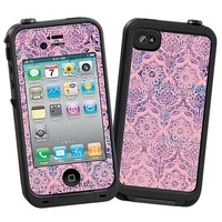 Vintage Purple and Pink Damask Skin  for the iPhone 4/4S Lifeproof Case by skinzy.com