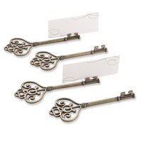 Kate Aspen® Key to My Heart Victorian-Style Key Place Card Holder (Set of 4)