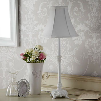 shabby chic table lamp from live laugh love