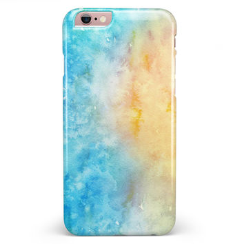 Washed Ocean 42 Absorbed Watercolor Texture iPhone 6/6s or 6/6s Plus INK-Fuzed Case