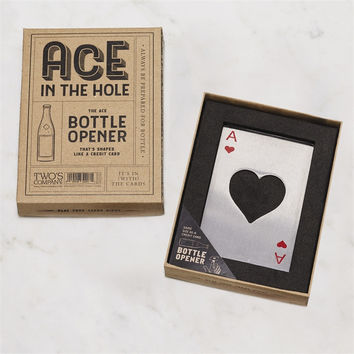 TWO'S COMPANY ACE IN THE HOLE BOTTLE OPENER