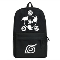 Naruto Sharingan Logo Cosplay Backpack Laptop Bag SchoolBag