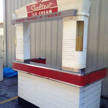 Complete Ice Cream Stand - 1930s Sealtest Ice Cream Stand