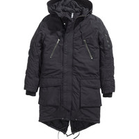 H&M - Padded Parka - Black - Men
