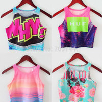 Newest 2014 Summer Fashion Bustier Crop Top Sexy Tube Sport Camisolas Lovely Novelty AA Style Print Women Tank Top 6 Patterns