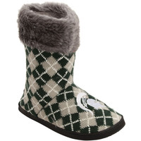 Michigan State Spartans Women's Argyle Fur Boot