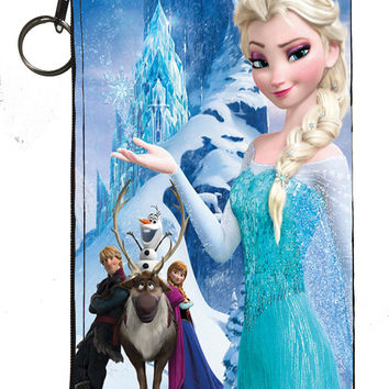 "Disney's Frozen Zipper Pouch 8"" x 4"""