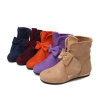 Womens Lovely Ribbon Wedge Boots