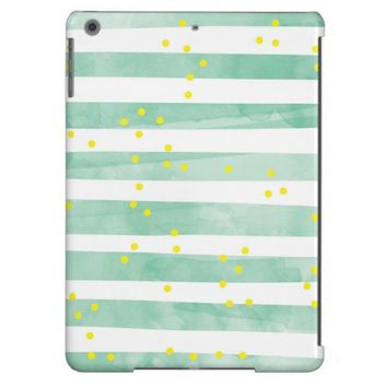 Vintage White Stripes Pattern iPad Air Case