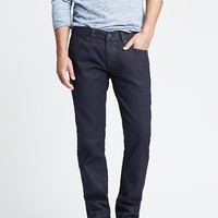 Slim Coated Indigo Jean