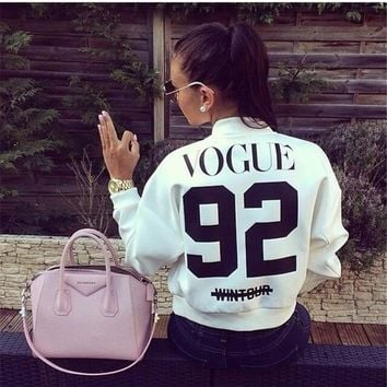 Vogue 92 On Sale Sports Zippers Long Sleeve Baseball [103842676748]