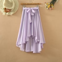 Chiffon Pleated  Maxi Skirts