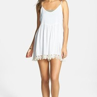 Volcom 'Simmer Down' Crochet Trim Romper (Juniors)