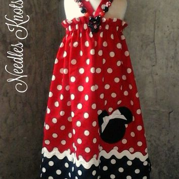 Girls Minnie Mouse Dress, Minnie Mouse Birthday Dress, Boutique Dress