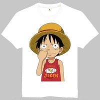 Anime T-shirt graphics One Piece Luffy Gear 4 Printing T shirt Anime One Piece Luffy Gear 4 T-shirt Top Tees tshirt For Men Women AT_56_4