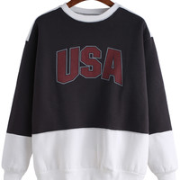 "Color Block ""USA"" Sweatshirt"