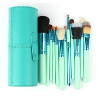 Professional New 100% New 12 pcs/Set Pro Cosmetic Makeup Brushes Set Makeup Tool Brushes Set Tools