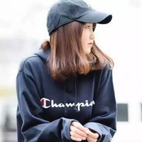 Champion Women Hooded Fashion Hoodie Pullover Top Sweater
