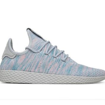 "adidas Originals x Pharrell Williams ""Tennis HU"" Light Blue BY2671"