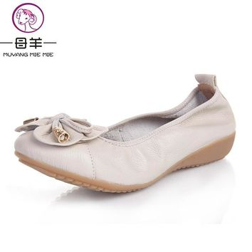Plus Size(35-42) 2016 Shoes Woman Genuine Leather Women Shoes 5 Colors Loafers Women's