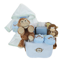 Little Monkey Baby Boy Basket