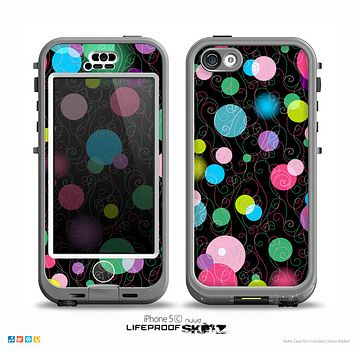 The Neon Colorful Stringy Orbs Skin for the iPhone 5c nüüd LifeProof Case