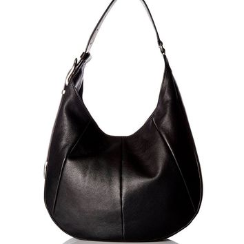 Frye Jacqui Hobo Black Leather Bag