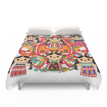 Society6 Mexican Dolls Duvet Covers