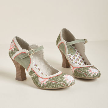 Ruby Shoo Combine and Conquer Mary Jane Heel in Olive