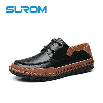 Genuine Leather Men's Driving Shoes Casual Shoes Fashion Man Leisure Loafers Dress Shoes Chaussure Homme