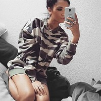 Casual Cool Cotton Long Sleeve Hoodie Top Sweater Shirt Top