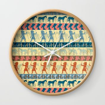 Egyptian Unicorn Pattern Wall Clock by That's So Unicorny