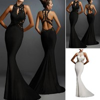 Women Formal Wedding Bridesmaid Long Evening Party Ball Prom Gown Banquet Dress