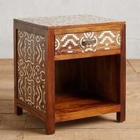Hadia Inlay Nightstand by Anthropologie in Brown Size: Nightstand House & Home