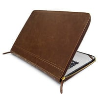 Smart Leather VINTAGE BOOK Laptop Folio Case, Cover Sleeve For Apple Macbook | eBay