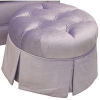 Angel Song 224820174 Aspen Lilac Adult Park Avenue Round Tufted Ottoman